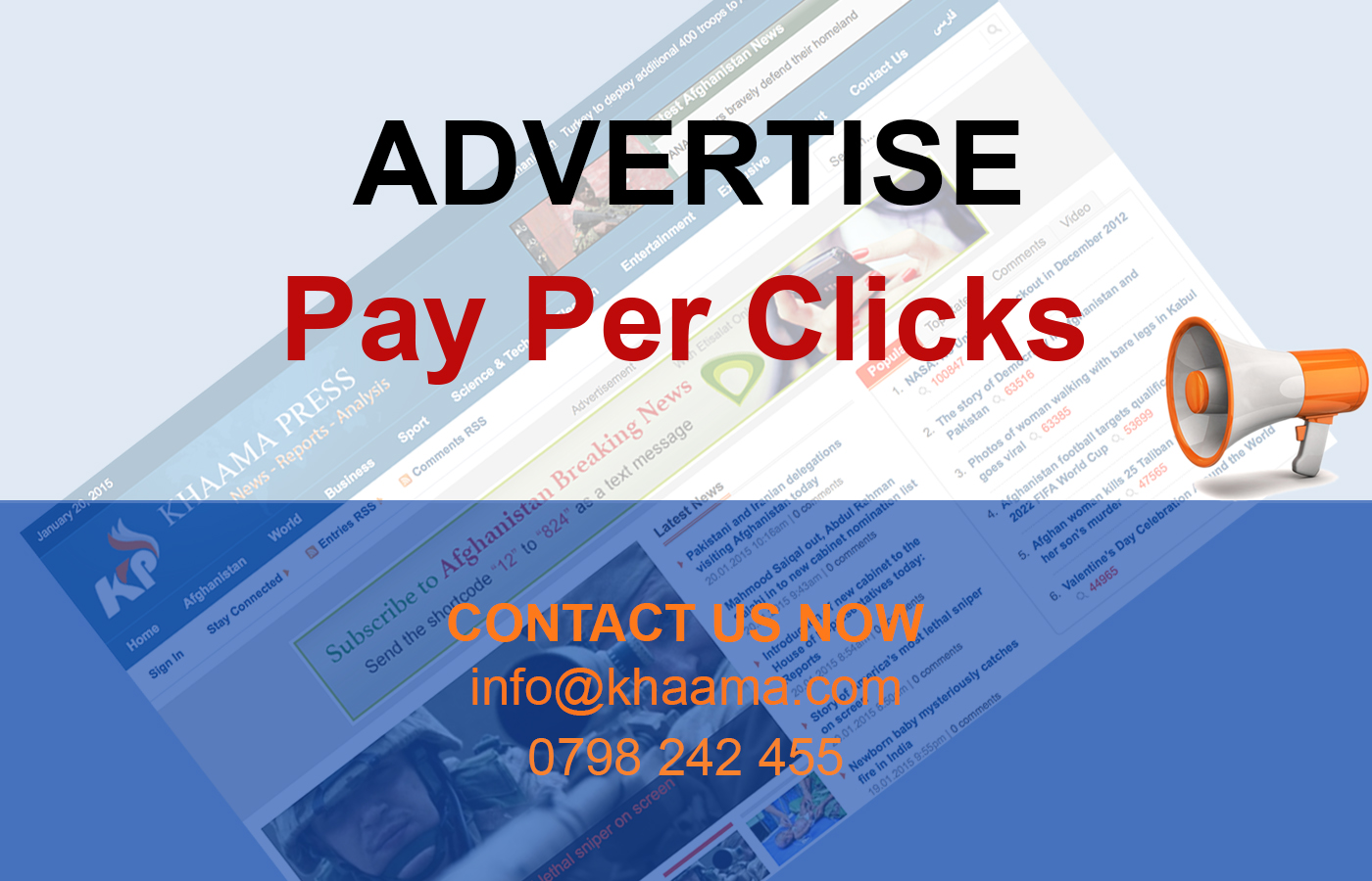 Advertise and Pay Per Click