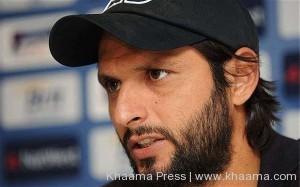 Shahid Afridi features against Afghanistan cricket team