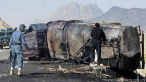 Taliban torch 40 NATO oil tankers