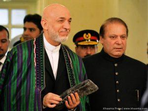 Nawz Sharif and Hamid Karzai