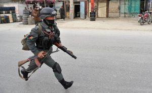 Kabul-police at blast site