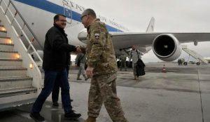 Ashton Cater meets nato commander john campbell in Kabul 21FEB2015