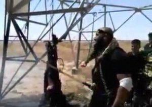 Abu Azrael slice ISIS fighter like shawarma