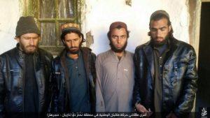 Taliban militants captured