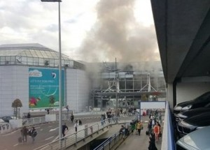 explosions in Brussels airport