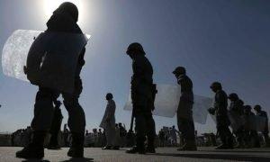Afghan riot police