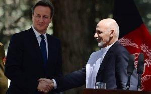 Ashraf Ghani and David Cameron