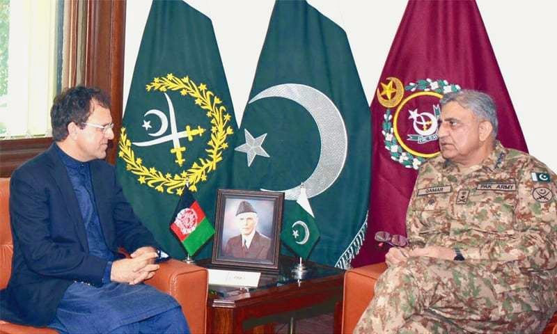 Pakistan Army chief discusses with Afghan envoy ways to achieve peace