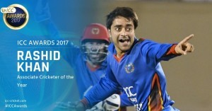 Afghanistan's Rashid Khan wins ICC Associate Cricketer of the Year Award