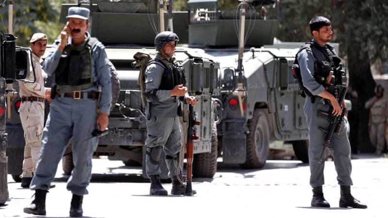 A group of armed militants launched a coordinated attack on the compound of the Ministry of Interior in Kabul city at around noon time today