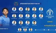 Afghanistan announces squad for ICC Cricket world Cup