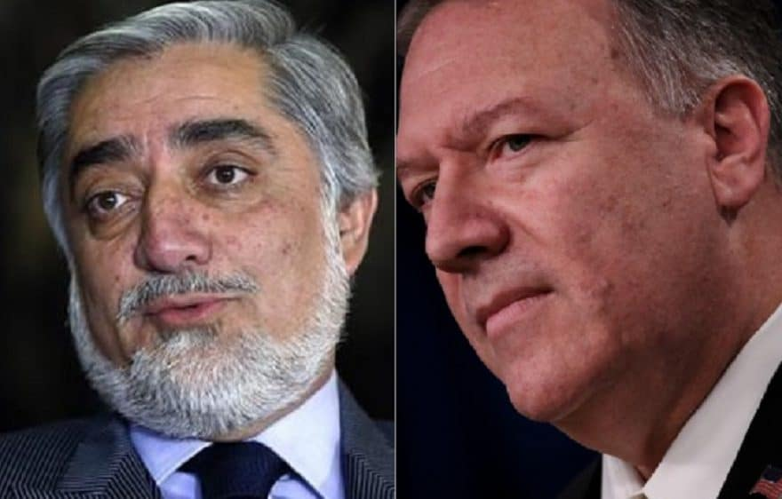 Afghan president says Pompeo reports progress in U.S.-Taliban talks